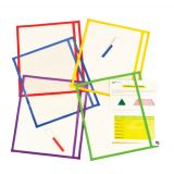 5 Color Dry-Erase Pouch - Pack of 10