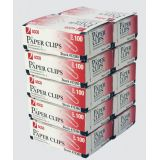ACCO® Paper Clips #1, 1-1/4 Smooth 100 per box 10 boxes/pkg