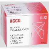 ACCO® Ideal Clamps 1-3/4 x 2-3/8 12/box