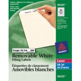Avery® Removable File Folder Labels White (300 labels) 10 sheets/pkg