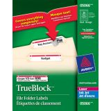 Avery® TrueBlock™ Filing Labels Laser and Inkjet Red (600 Labels) 20 sheets/pkg