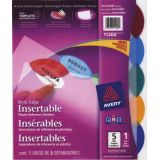 Avery® Style Edge Insertable Dividers Assorted Colours 5-Tabs