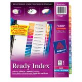 Avery® Ready Index® Table of Contents Dividers Coloured Jan-Dec Bilingual