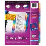 Avery® Ready Index® Table of Contents Dividers Coloured A-Z