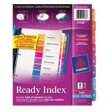 Avery® Ready Index® Table of Contents Dividers Coloured 1-8