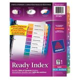 Avery® Ready Index® Table of Contents Dividers Coloured 1-10