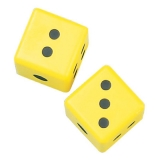 3 Coated Foam Dice