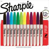 Sharpie® Fine Point Permanent Markers Assorted Colours 12/set