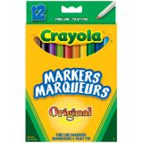 Crayola® Markers Fine Line Classic Colours 12/set