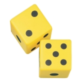6 Coated Foam Dice