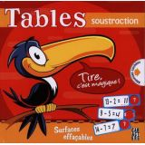 Tables de mathématique - Soustraction