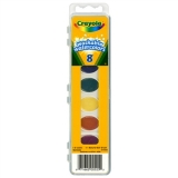 Crayola® WASHABLE WATERCOLORS 8 W/BRUSH