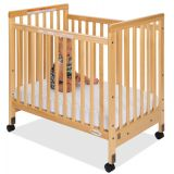 Fixed Side with Slatted Ends SafetyCraft® Compact-Size Cribs