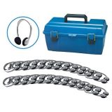 Personal Stereo/Mono Headphones Lab Pack, 24-Pack with foam ear cushions without volume control