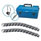 Personal Stereo/Mono Headphones Lab Pack, 24-Pack with leatherette ear cushions with volume control