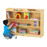 Adjustable Mobile Bookcase with Lip