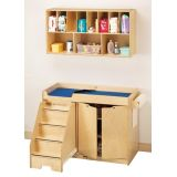 Changing Table with Stairs and Organizer Combo