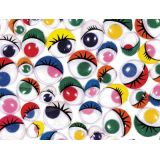 Creativity Street® Painted Assorted Wiggle Eyes 100/pkg