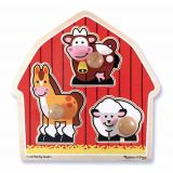Fresh Start Jumbo Knob Puzzles, Barnyard Animals