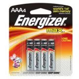 AAA Energizer Batteries 4 pack
