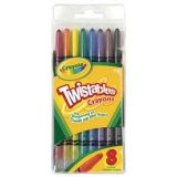 8 Colors Crayola Twistables for writing or coloring, Just twist to replenish crayon.