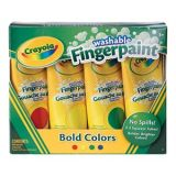 Crayola® Washable Finger Paint Set of four 4 oz. tubes. BOLD. Red, Yellow, Blue, And Green