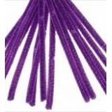 Chenille Stems® 4mm thick 12L. Pack of 100 Purple