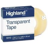 Transparent Tape, 3/4 x 1296, 1 Core, Clear, NSN CM-MMM5910341296