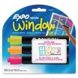 Expo® Dry-erase Marker, Bullet Point, 3/PK, Neon Assorted Part Number: SAN1752225