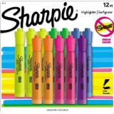Sharpie Accent Tank-Style Highlighters, 12 Colored Highlighters Set of 12 Highlighters: 3 Fluorescent Yellow, 2 Fluorescent Green, 2 Fluorescent Pink, 2 Blue, 2 Fluorescent Orange, 1 Lavender