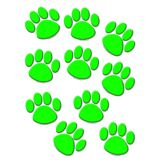 Green Paw Prints Accents