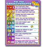 Ten Commandments for Kids Chart