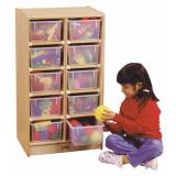 Jonti-Craft 10 Cubbie-Tray Mobile Unit - without Trays