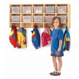 MapleWave 10 Section Wall Mount Coat Locker - without Trays