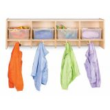 Jonti-Craft 4 Section Wall Mount Coat Locker  - without Tubs