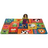 Animal Sounds Toddler Rug - 4' x 6' Rectangle