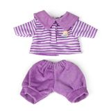Violet polo Shirt and Trousers Set   (21cm, 8 1/4)
