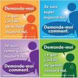 Ask Me French Sticker Badges