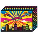 Decorated Poly Index Card Boxes for 3 x 5 Cards, Super City