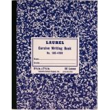 Cursive Composition Notebook GR-4 Ruled,Purle Marble Semi-Stiff Covers, 100 Pages