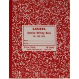 Cursive Composition Notebook GR-1 Ruled, Red Marble Semi-Stiff Covers, 100 Pages