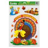 Thanksgiving Cute Animals Window Clings