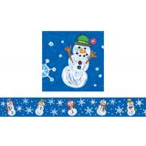 Kid-Drawn Snowman Border