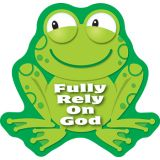 Fully Rely on God Frog Stickers