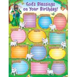 God's Blessings on Your Birthday Chart