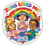 Jesus Loves Me Double-Sided Decoration