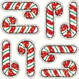 Candy Cane Dazzle Stickers