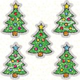 Christmas Tree Dazzle Stickers