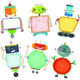 Riveting Robots 6in Designer Cutouts