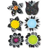 Black and White Flowers 10 Jumbo Cut-Outs